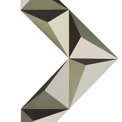 Elogio de la sombra I. 6 piezas de 70 x 70. Composición variable