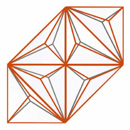 Elogio de la sombra 2. 6 piezas de 70 x 70. Composición variable