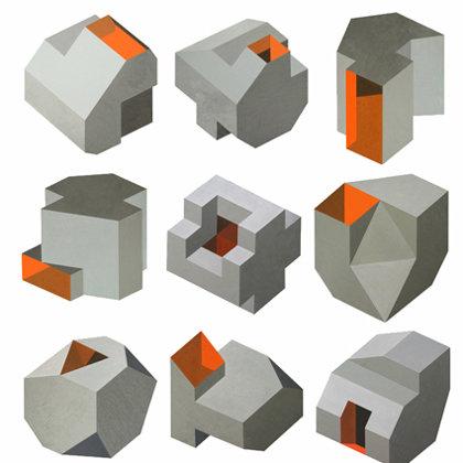 Las Moradas. 9 piezas  de aprox. 50 x 50 cm cada una. 2009