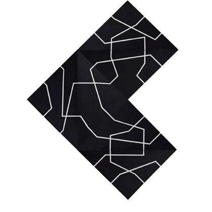 Short cuts. 6 piezas de 70 x 70. Composición variable
