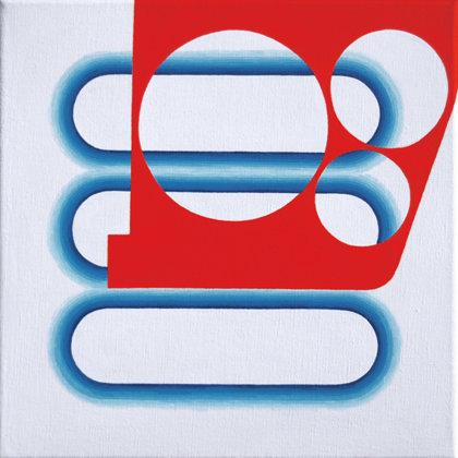 Burla.  Acrílico sobre lienzo. 30 x 30 cm.  2011
