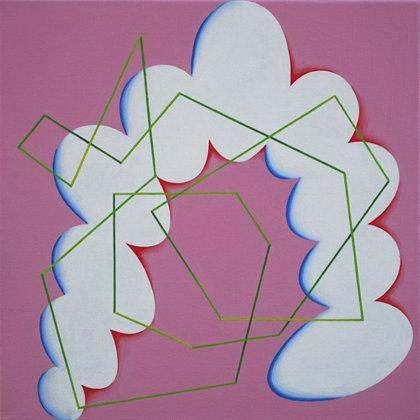 Composición ridícula.  Acrílico sobre lienzo. 40 x 40 cm.  2012