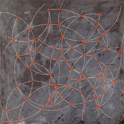 El Azar.  Acrílico sobre lienzo. 40 x 40 cm.  2018