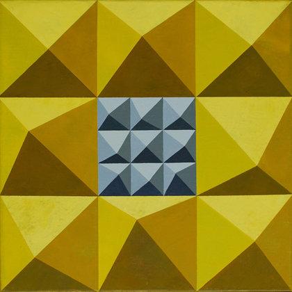 Emblema.  Acrílico sobre lienzo. 40 x 40 cm.  2012
