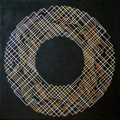 Iris.   Acrílico sobre lienzo. 40 x 40 cm.  2012