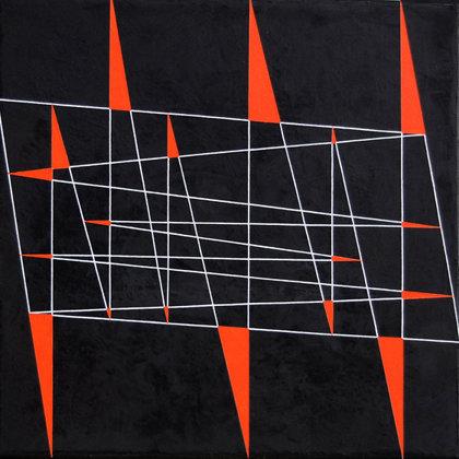 Octubre.   Acrílico sobre lienzo. 40 x 40 cm.  2011
